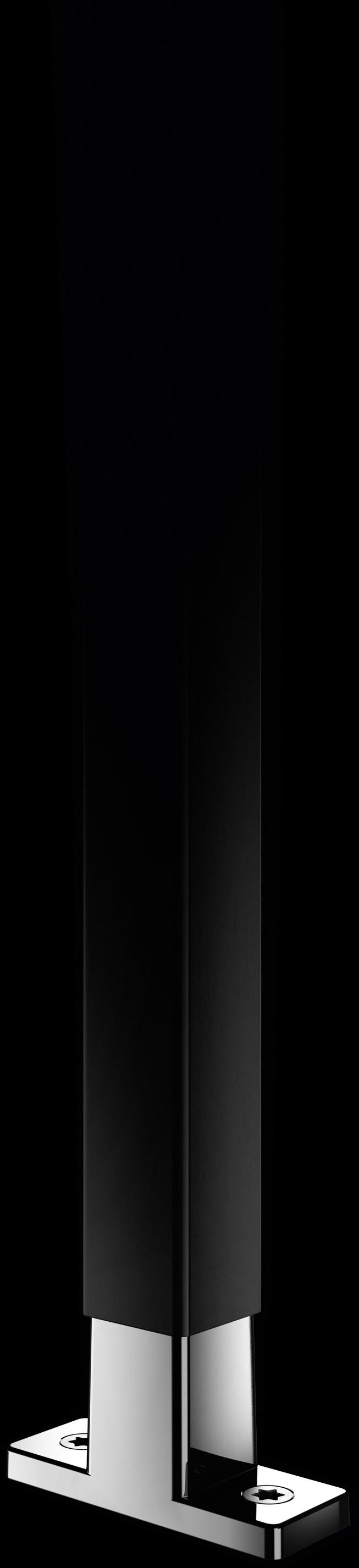 Schwarze Strebe mit T-Konnektor aus Chrom