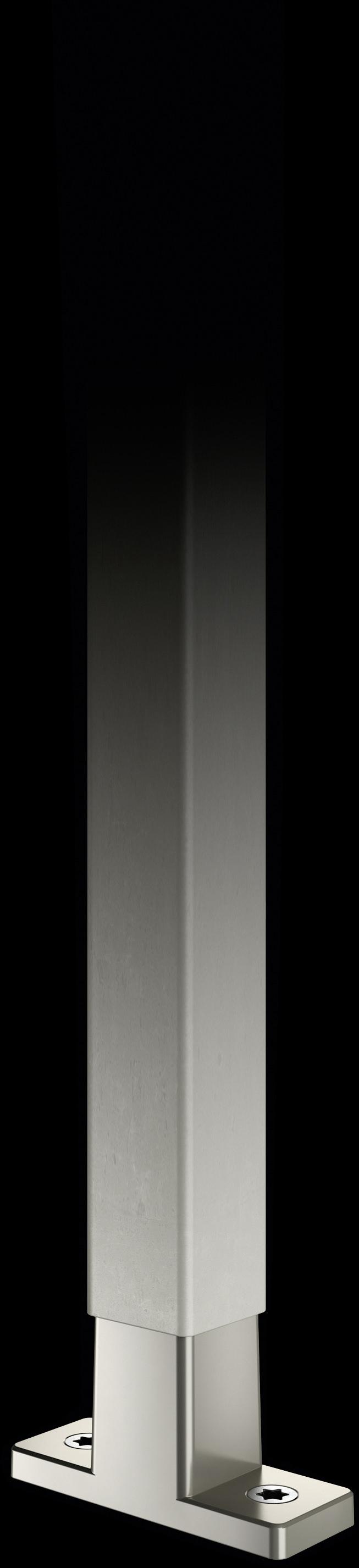 Mattnickel-Strebe mit T-Konnektor aus Mattnickel