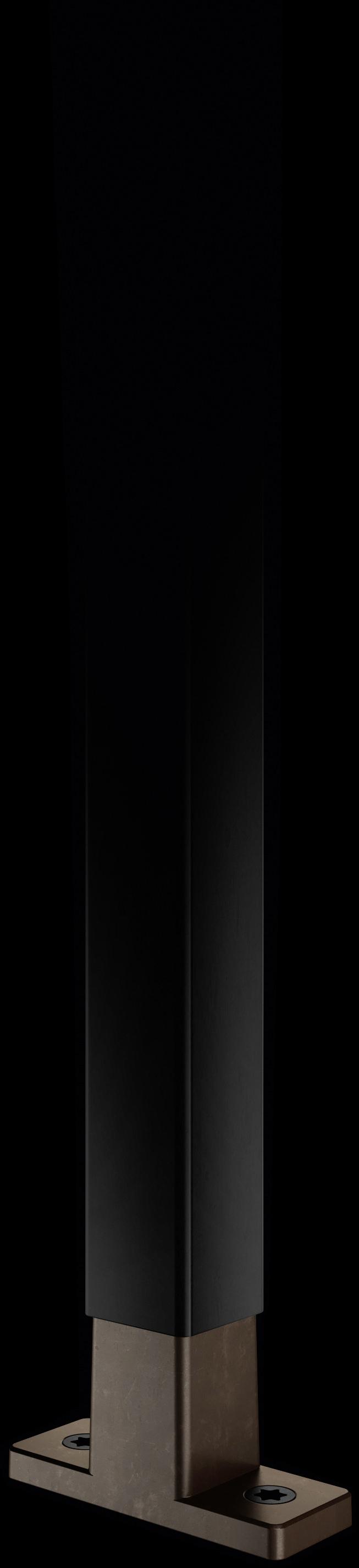 Schwarze Strebe mit T-Konnektor aus Kupfer