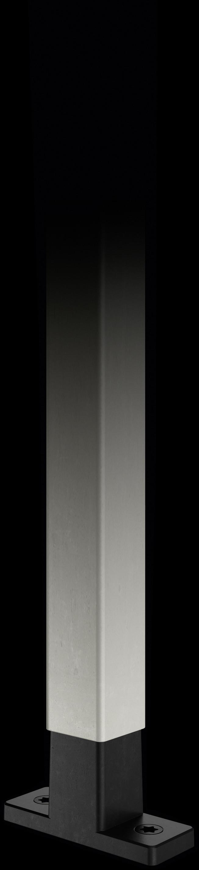 Mattnickel-Strebe mit T-Konnektor in schwarz