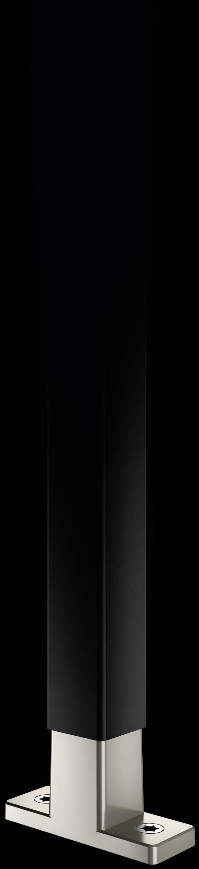 Schwarze Strebe mit T-Konnektor aus Mattnickel