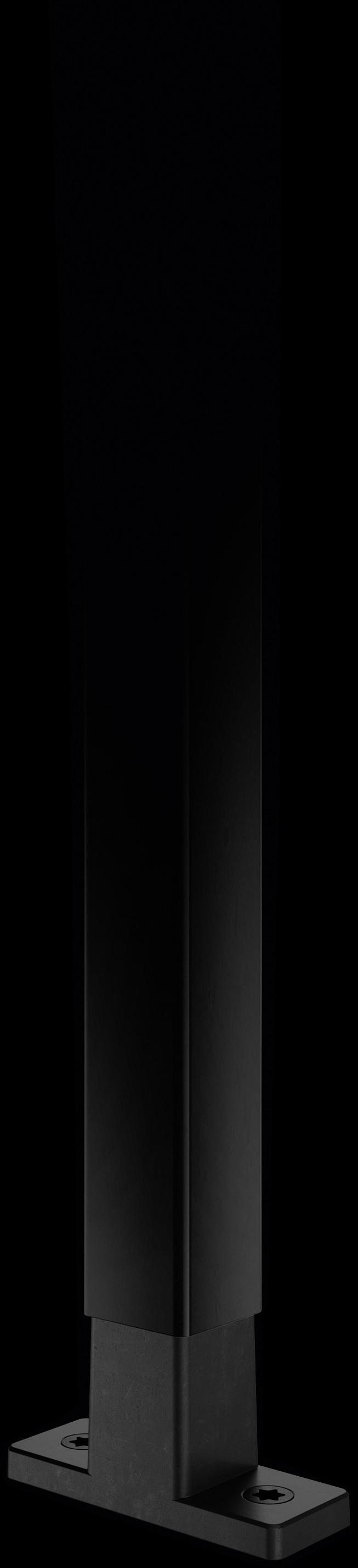 Schwarze Strebe mit T-Konnektor in schwarz