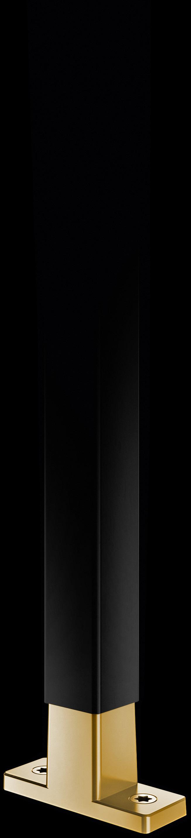Schwarze Strebe mit T-Konnektor aus Gold