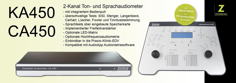 Bild der Audiometer CA450 und KA450