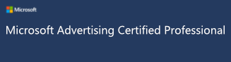 Logo Microsoft Advertising Certified Professional