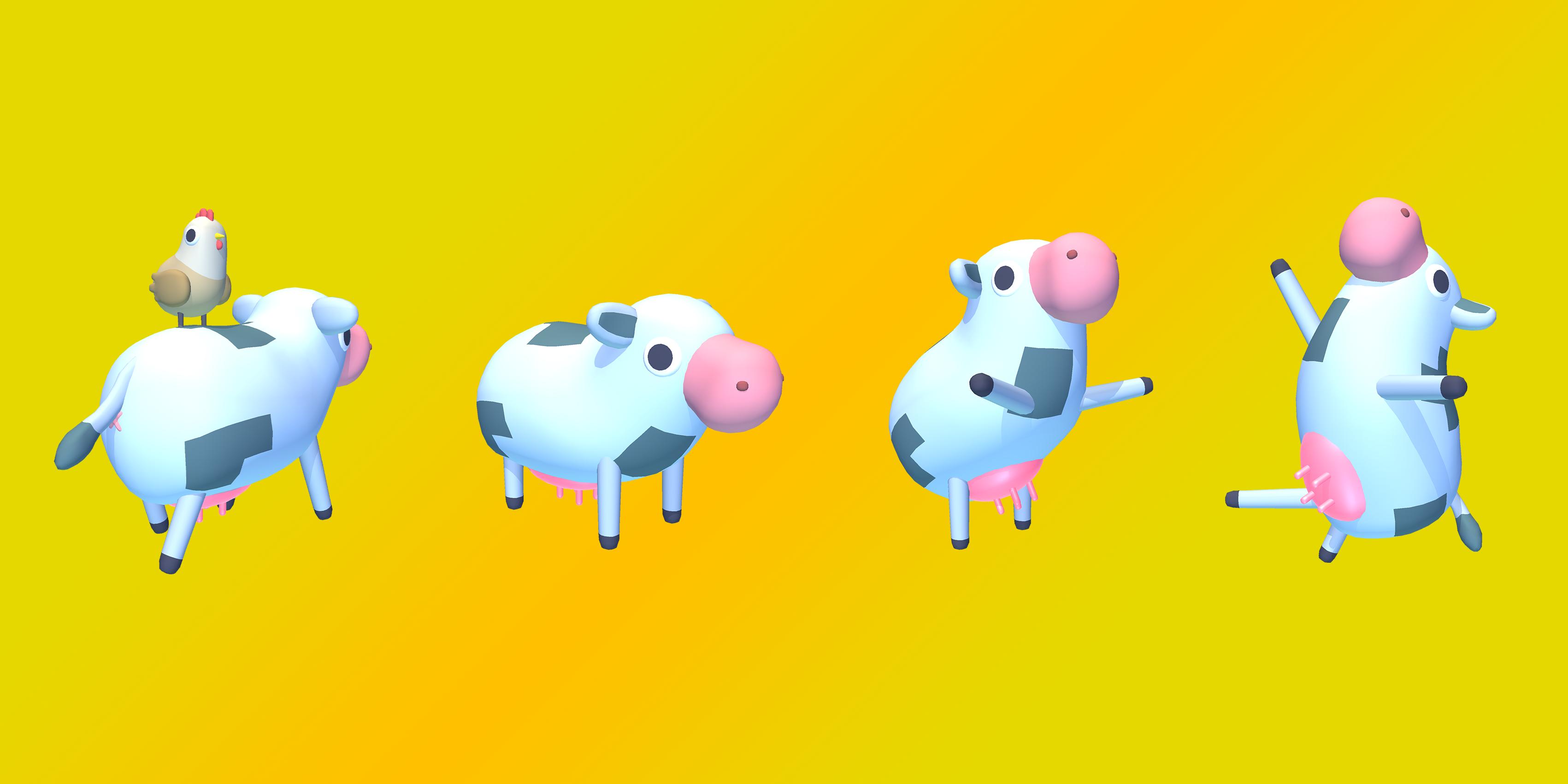 Farm Land 3D cows