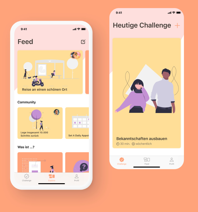 Phone Mockup with example Content