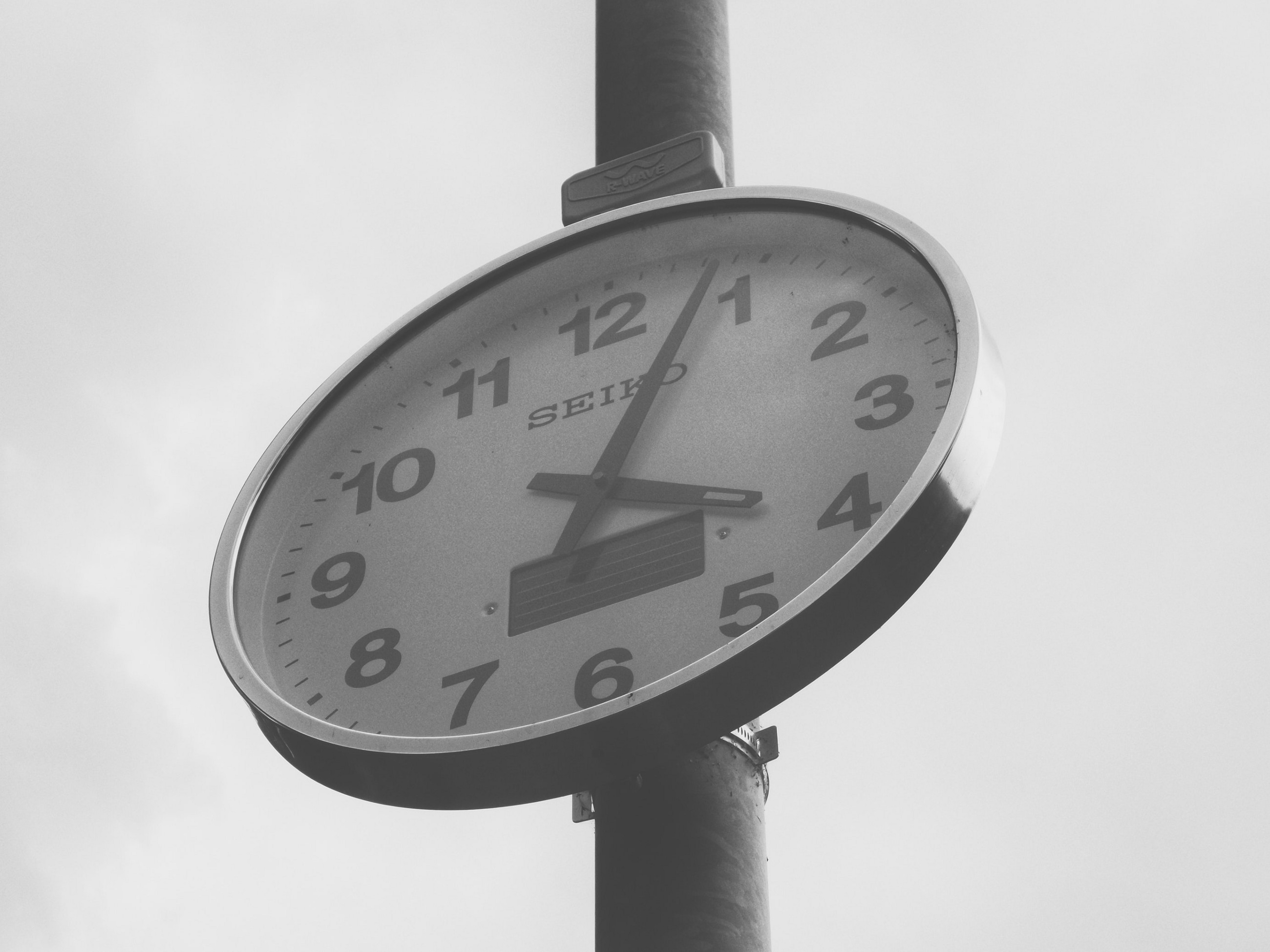 A clock as a symbol for running out of time