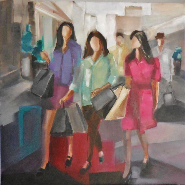 "shopping"" Painting by Catherine Cascio | Artmajeur"