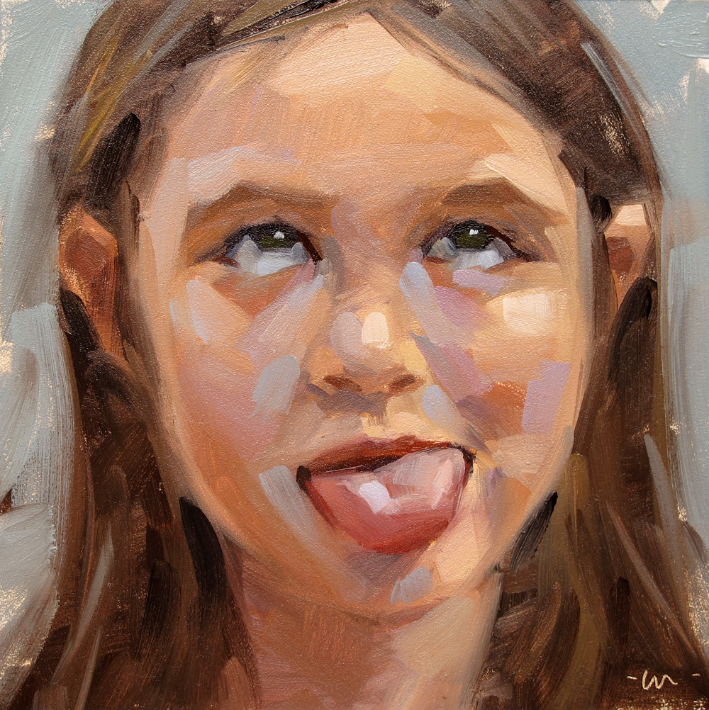 Carol Marine's Painting a Day: Two tongues