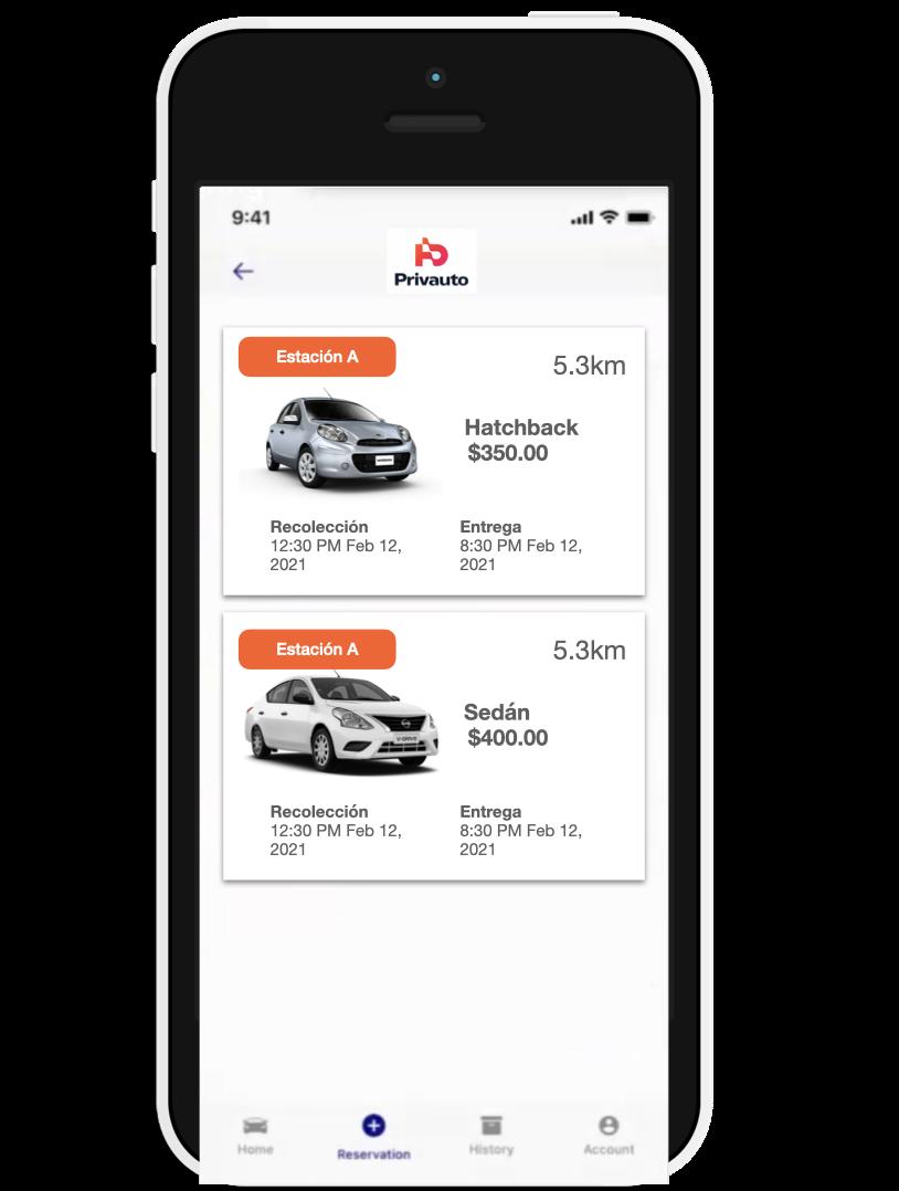 Privauto iPhone app