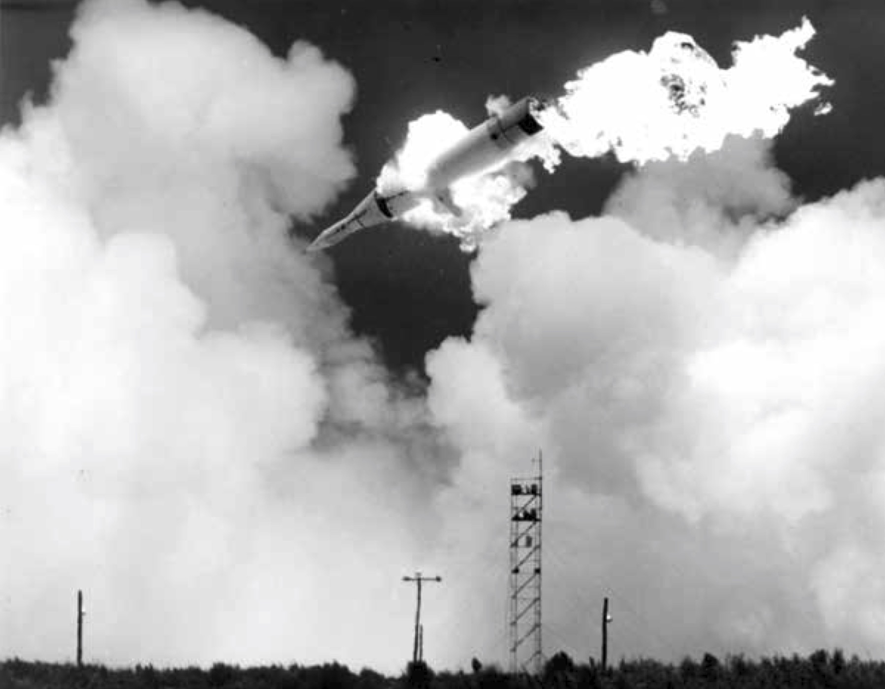 Photograph of the explosion of Juno 2 - July 16, 1959