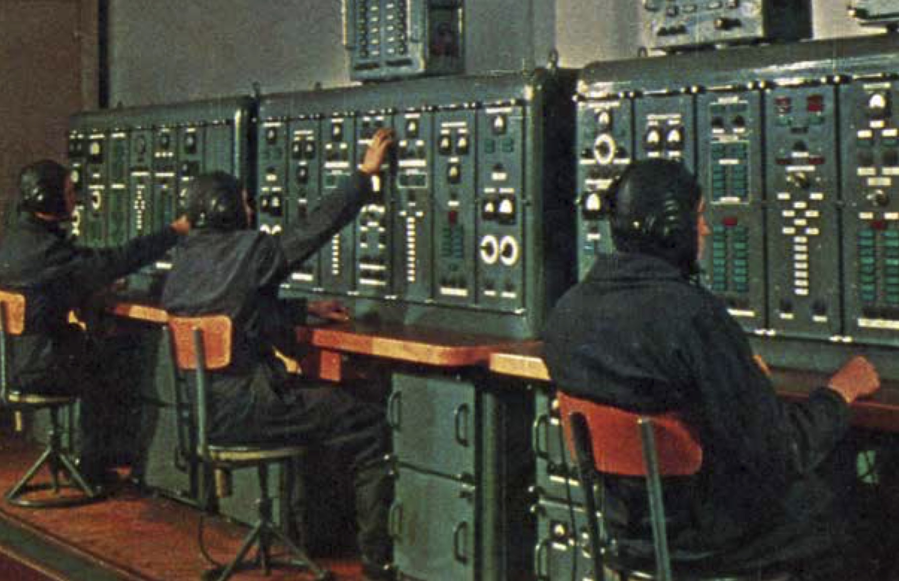 Soviet Launch Room.  Image used in the book BEYOND by Stephen Walker