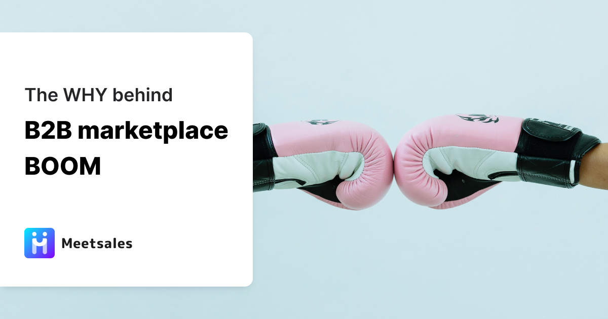 Why B2B marketplaces are popular represented by a graphic with boxer gloves