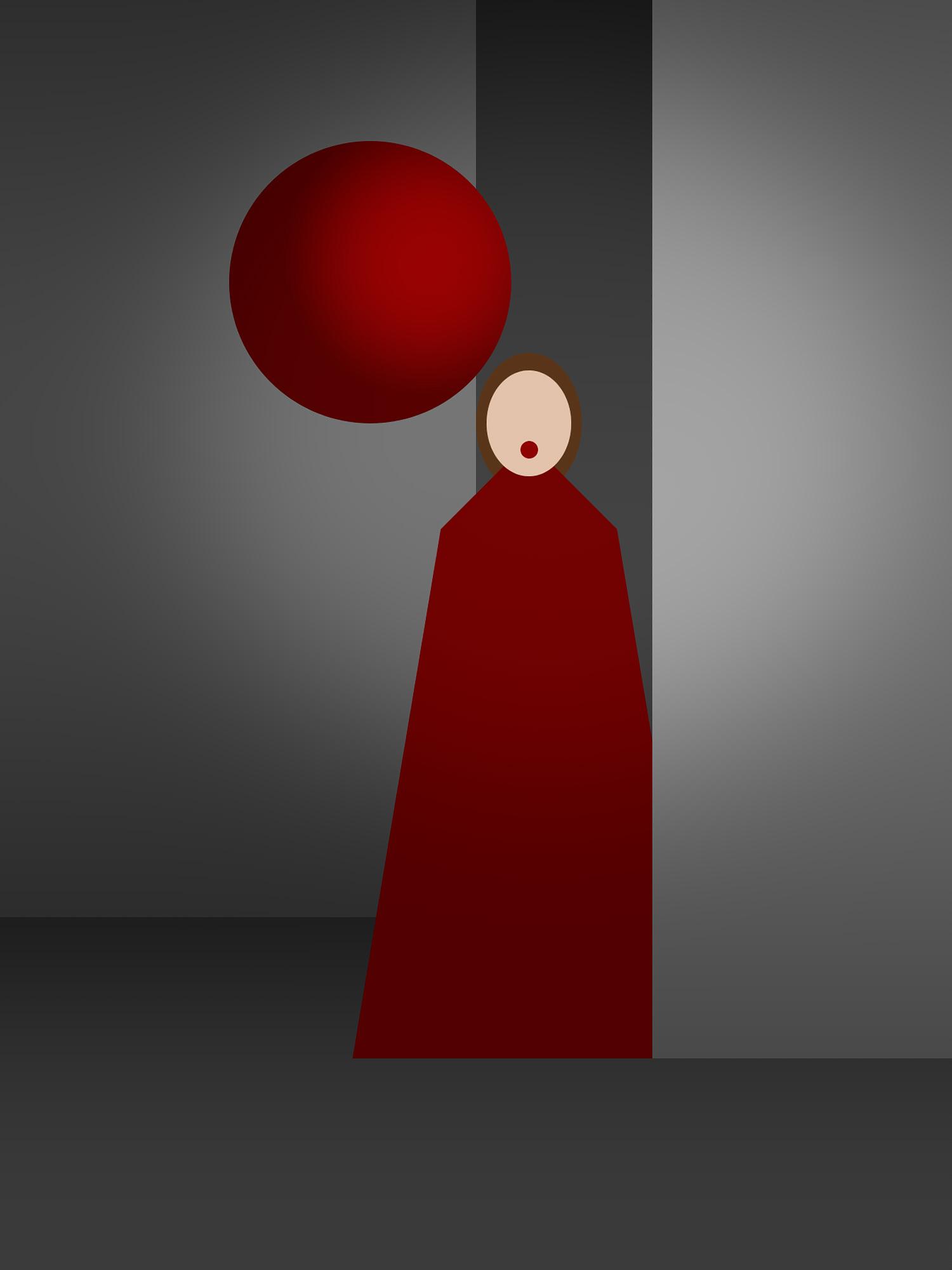 Concept of portrait in studio of Ilona Clement for a Profoto international campaign