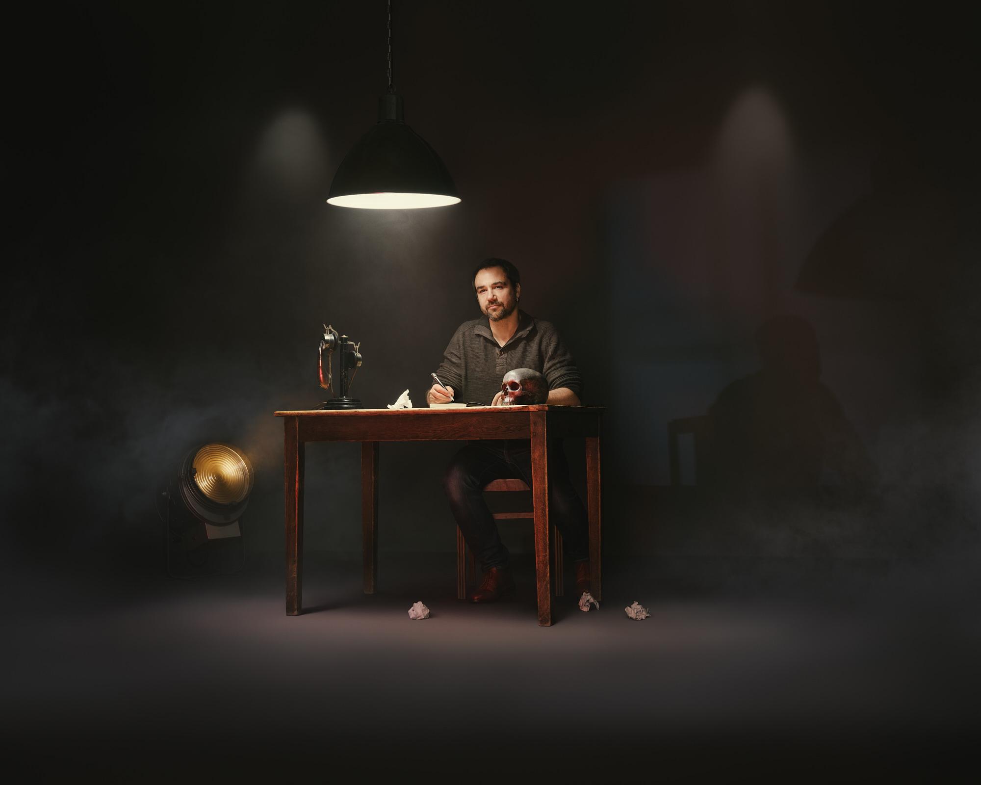 Portrait in studio of Malo for the art series Cross