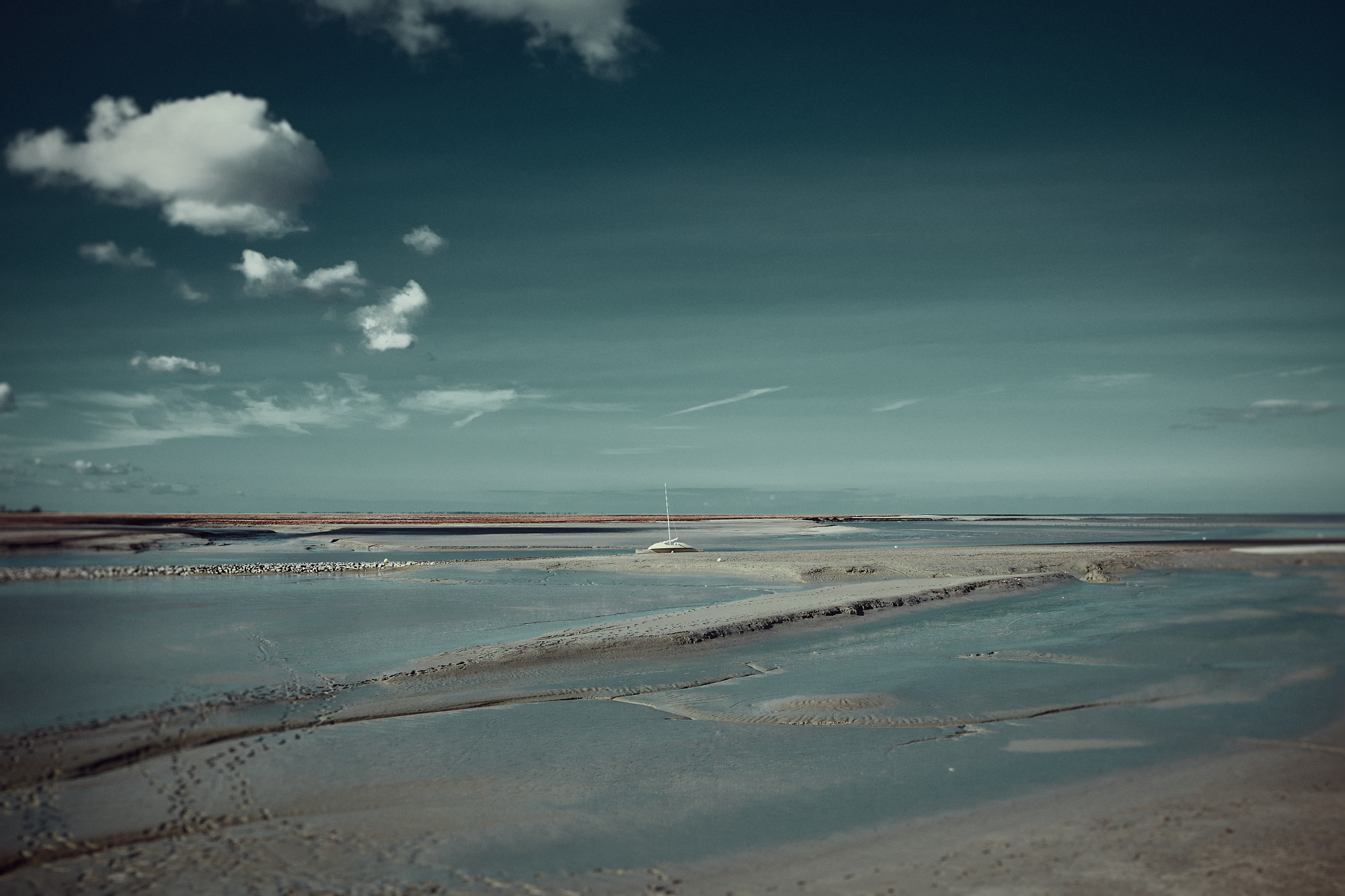 Landscape of the bay of Mont Saint-Michel for an art series