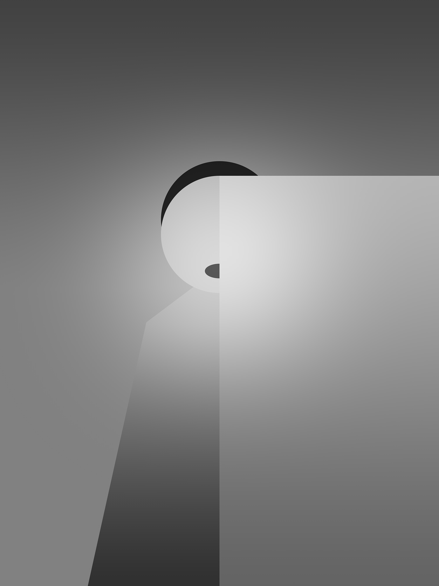 Concept of portrait in studio of Jade Codino for the art series Contrast