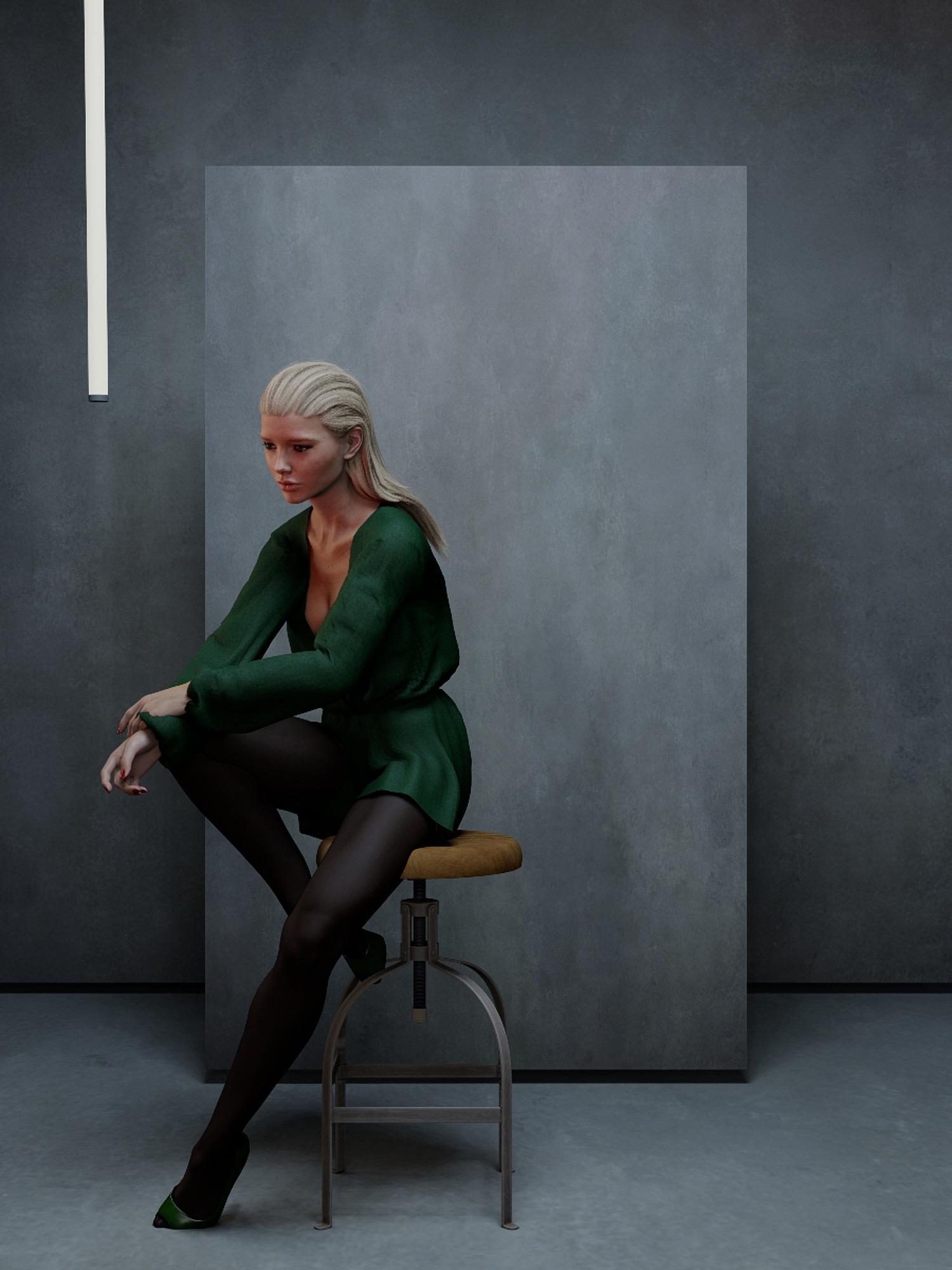 Concept of portrait in studio of Alison Cossenet for Empara