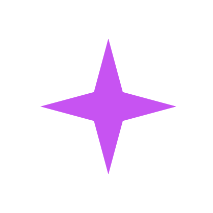 Role Models Icon Purple and White North Star