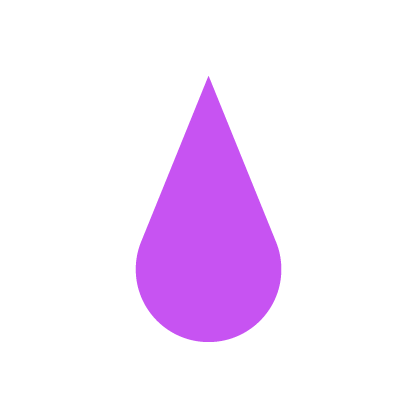 Scarcity of resources icon purple and white rain droplet