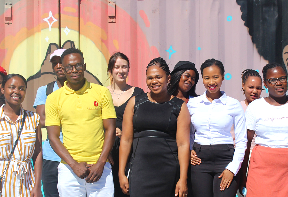 Group of Students in Ukhanyo Foundation in Cape Town South Africa