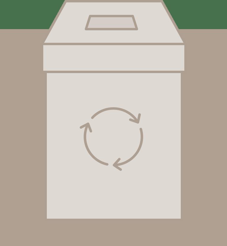 Boîte de recyclage de masques