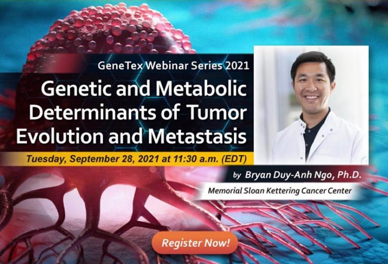 Webinar - Determinantes genéticos y metabólicos de la evolución del tumor y la metástasis