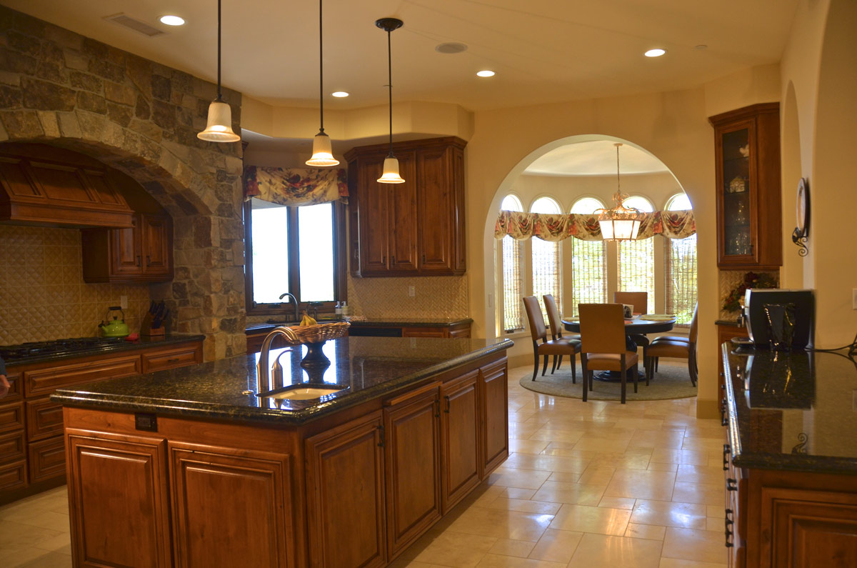 Kitchen with Breakfast Nook and Great Room Beyond