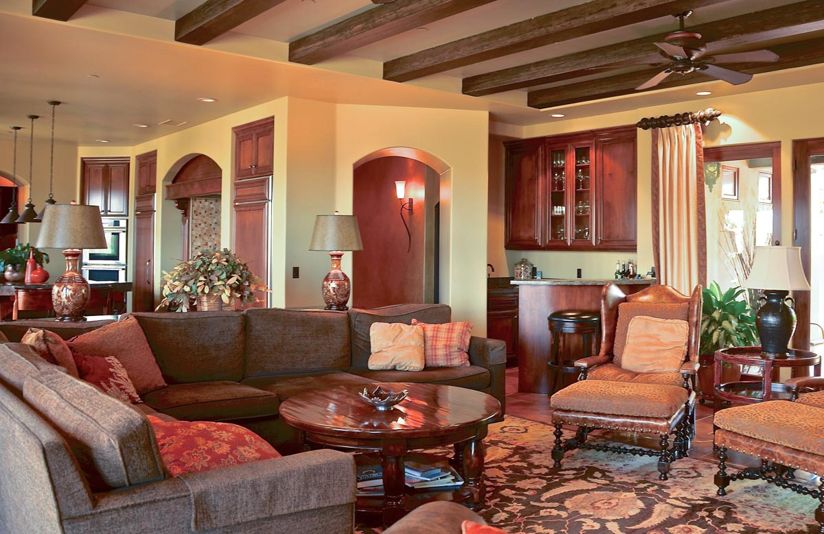 The Great Room is conveniently located next to the kitchen for entertaining family and friends.