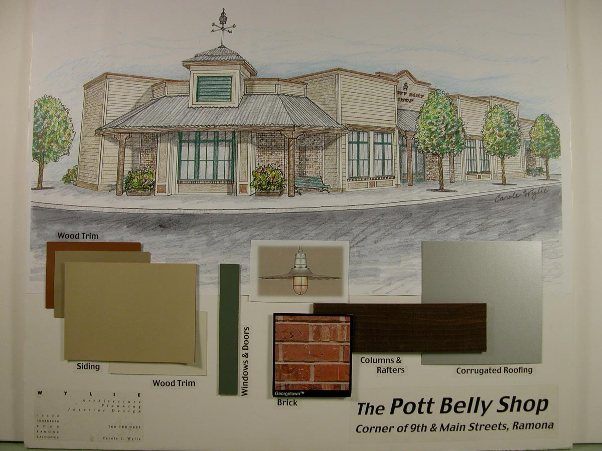 This rendering was presented to the local design review boards for early approval of the project design.