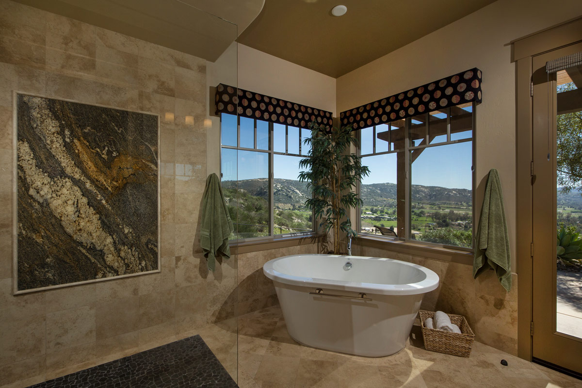 The Master Bath also takes full advantage of the views to the valley and local mountains.