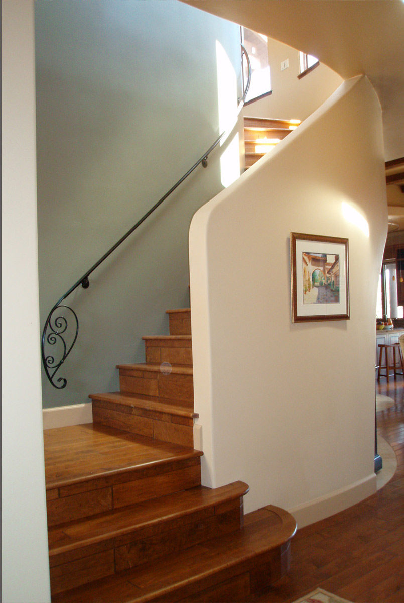 Interior Foyer and Staircase to the Recreation Room and Roof Top Patio.