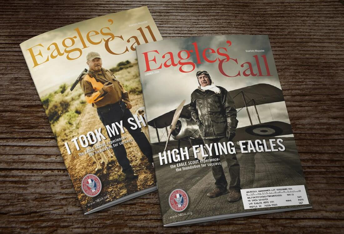 Telling stories are a pastime of the Eagle Scouts and Eagles' call magazine the official publication of the Eagle Scouts is a great way to stay up to date with the latest stories and achievements of Eagle Scouts across the country. By working with the Eagle's Call team we help provide the visual elements needed to help drive their content home.
