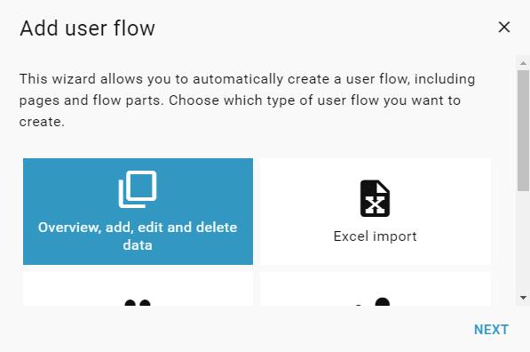 select-user-flow-wizard
