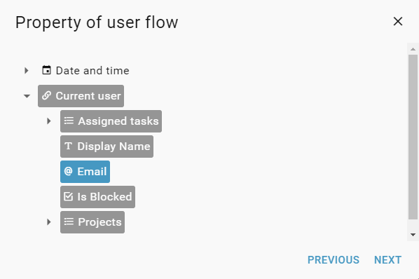 select-property-from-user-flow