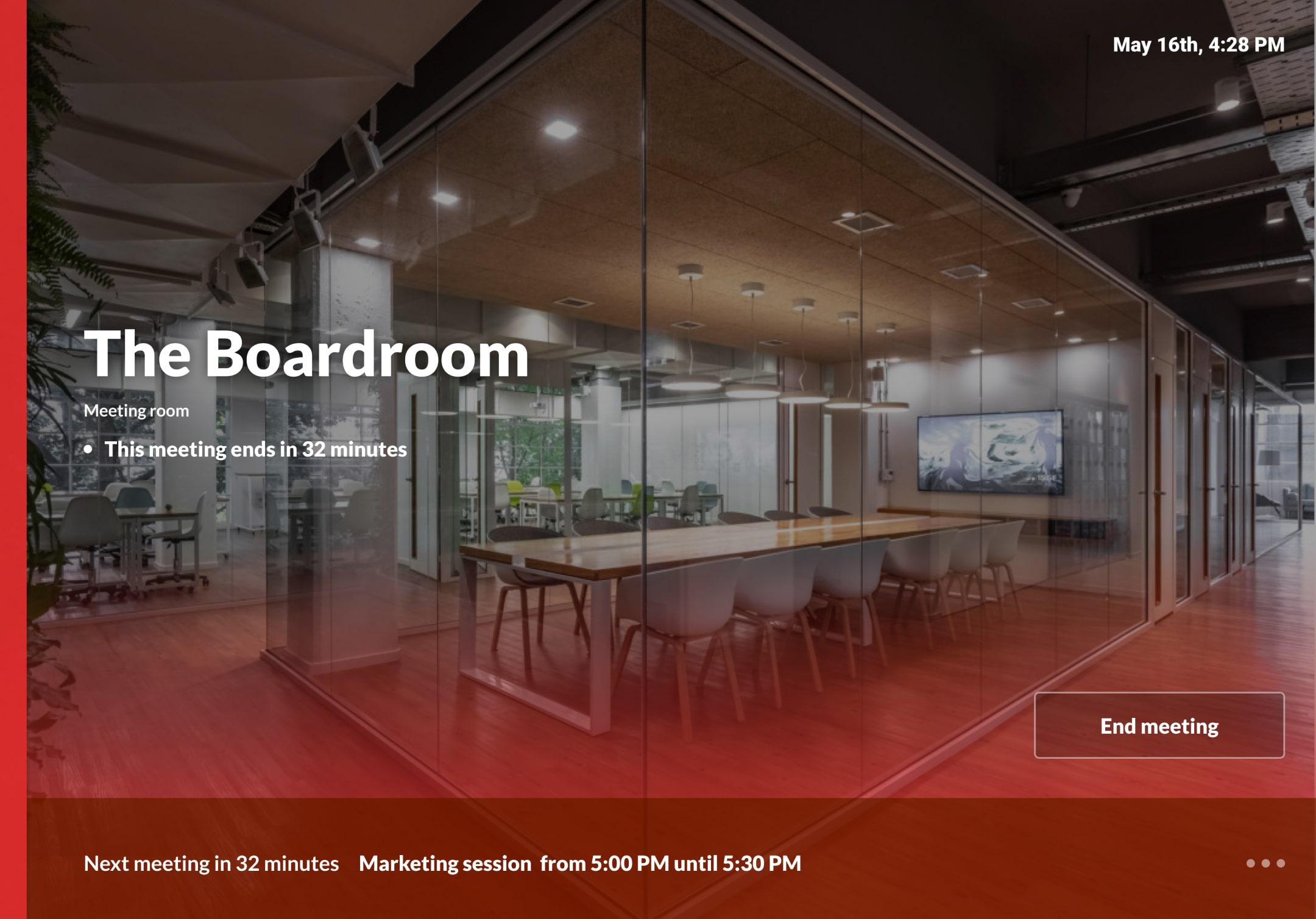 Bisner Meeting Room Display