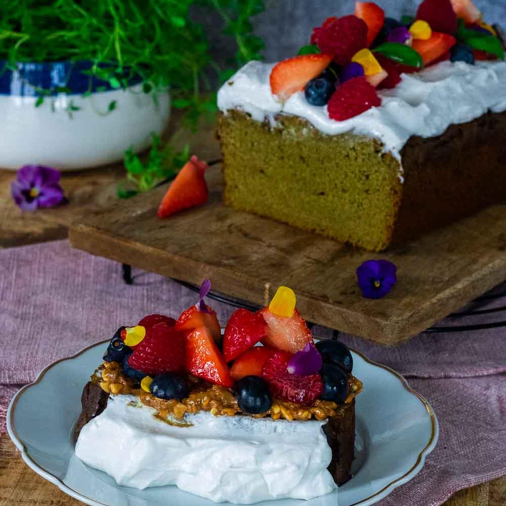 Vegan & Gluten Free Avocado, Lime & Coconut cake