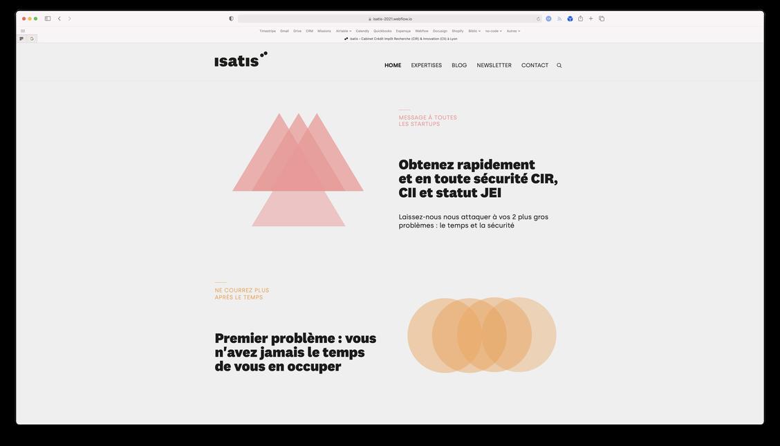 Cover du site web d'isatis