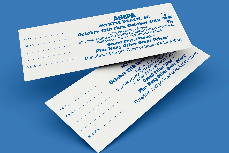 Raffle Ticket, Concert Ticket, Event Ticket, Numbered Ticket