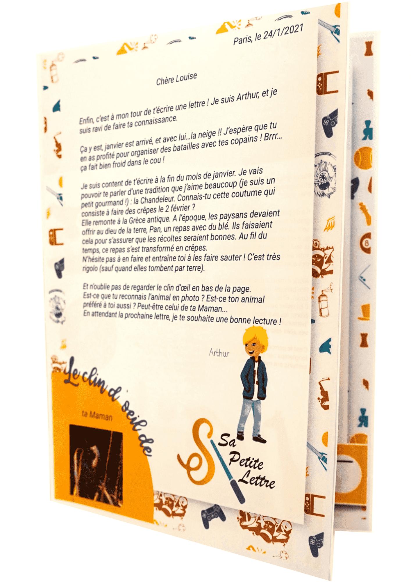 Visuel de la lettre