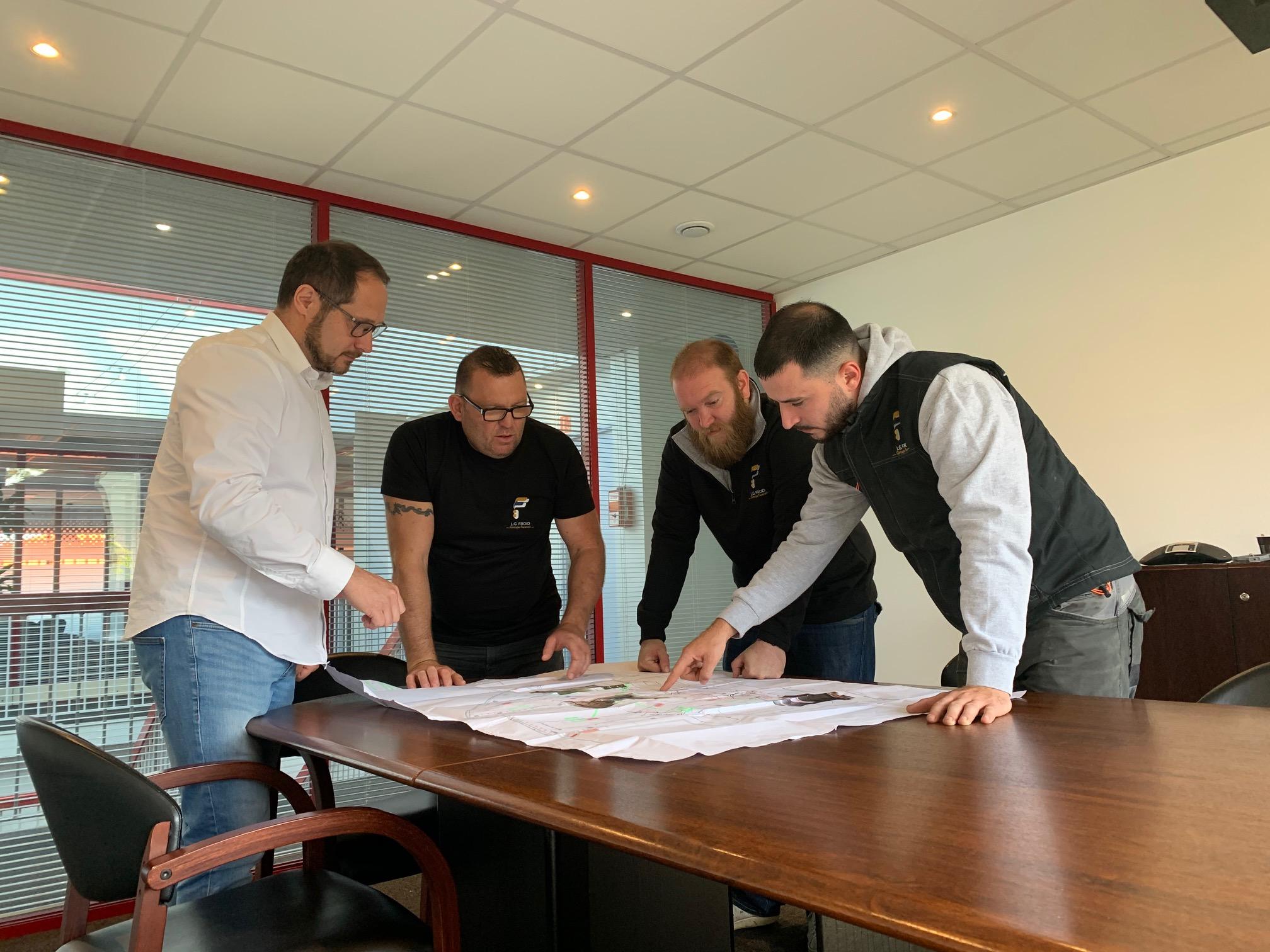 Équipe Midec en réunion