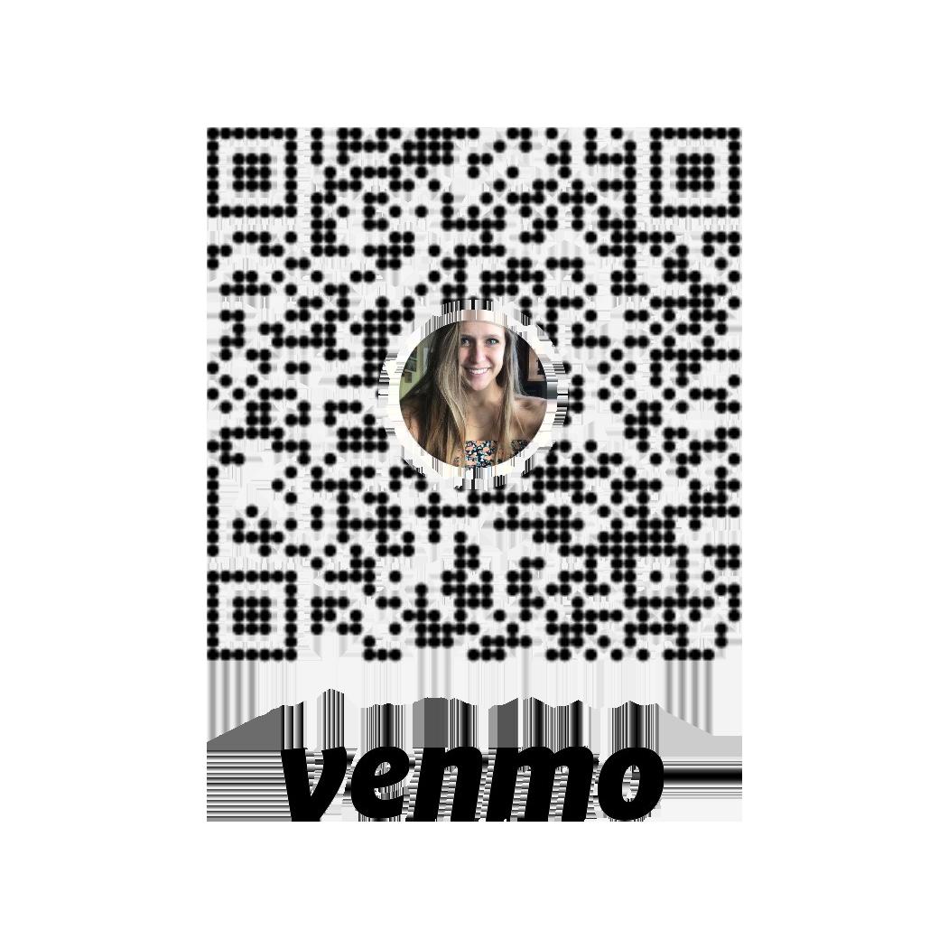 A QR Code for Megan's Venmo.