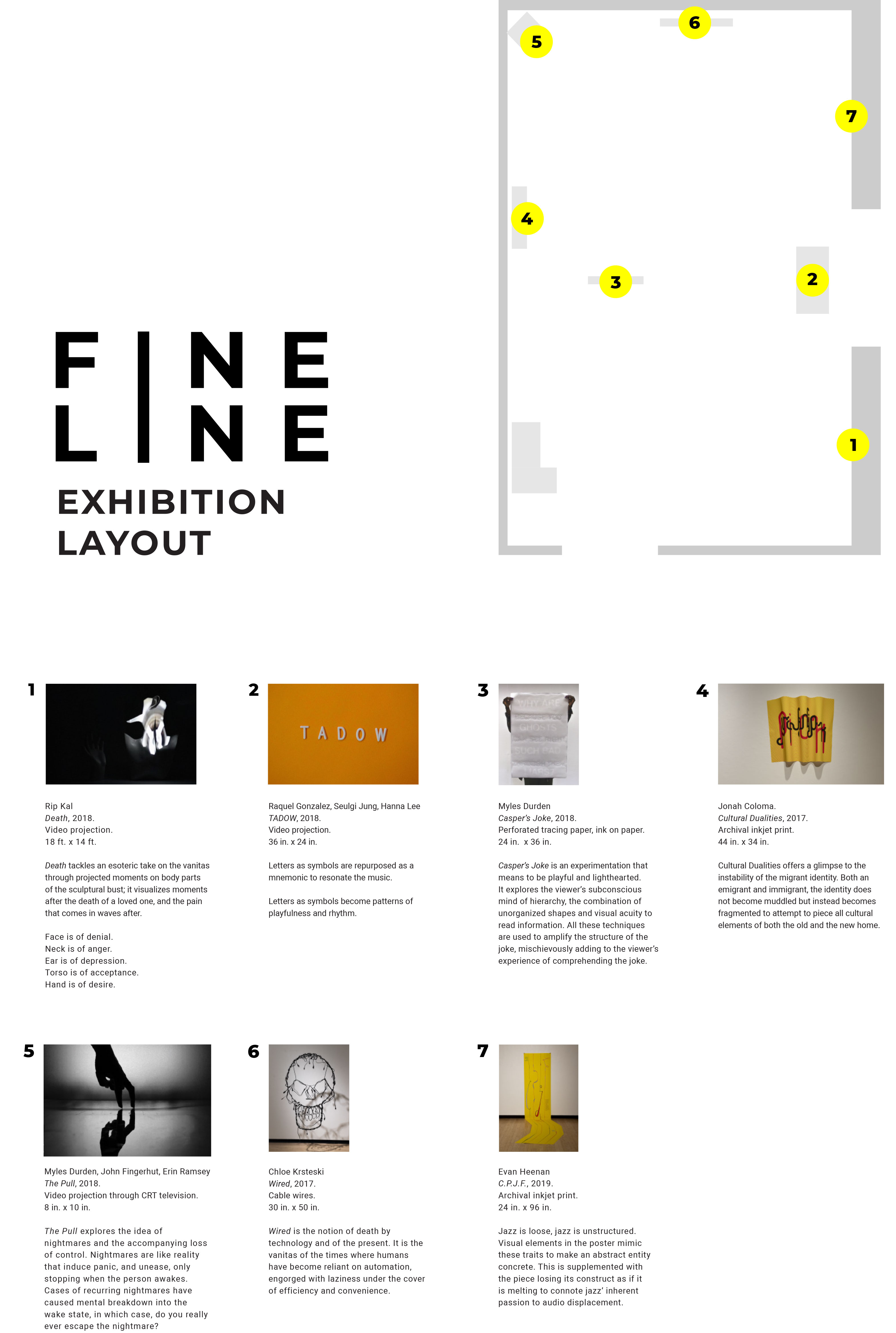exhibition layout for Fine Line Show
