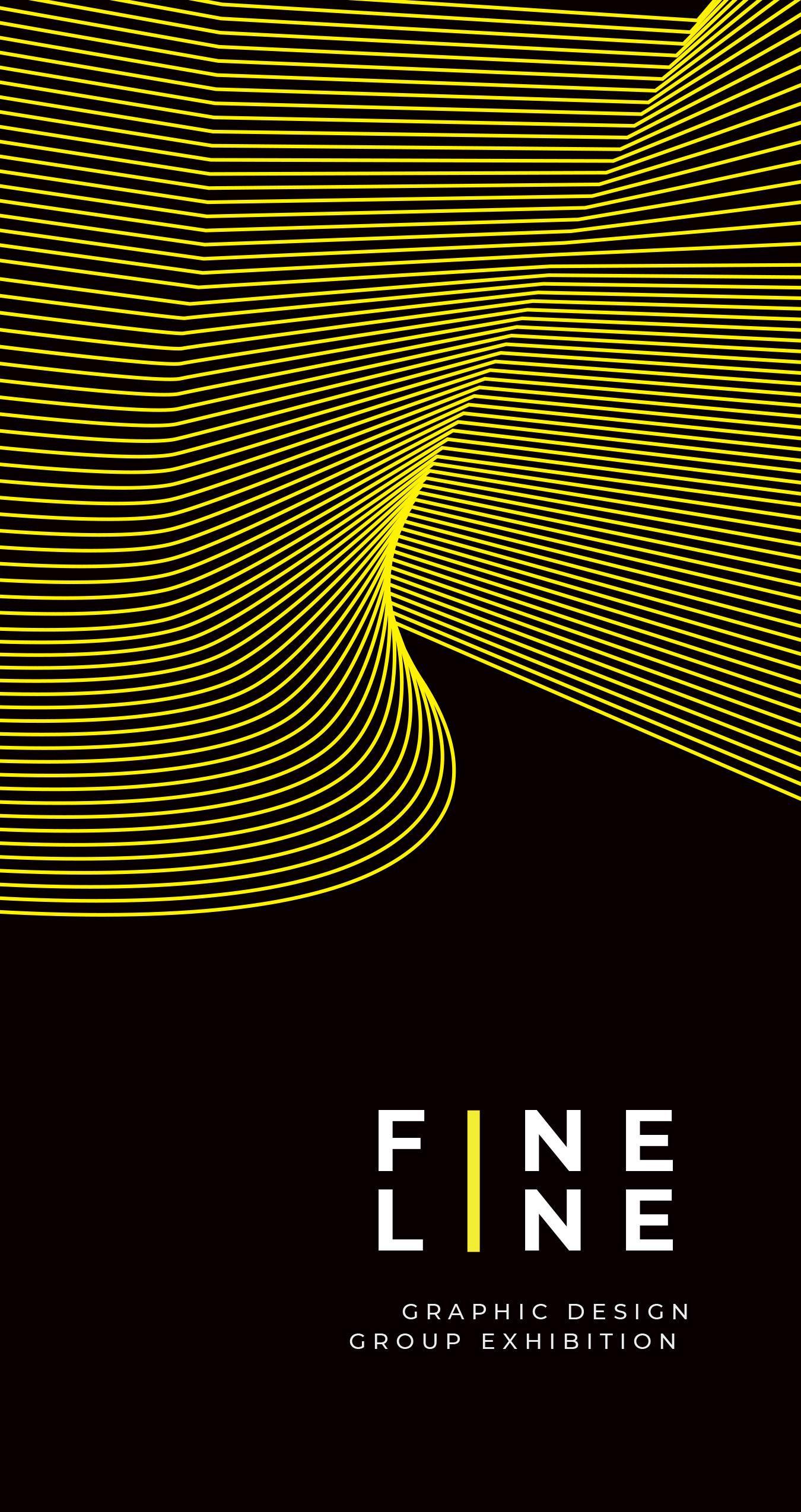 brochure for Fine Line Exhibit