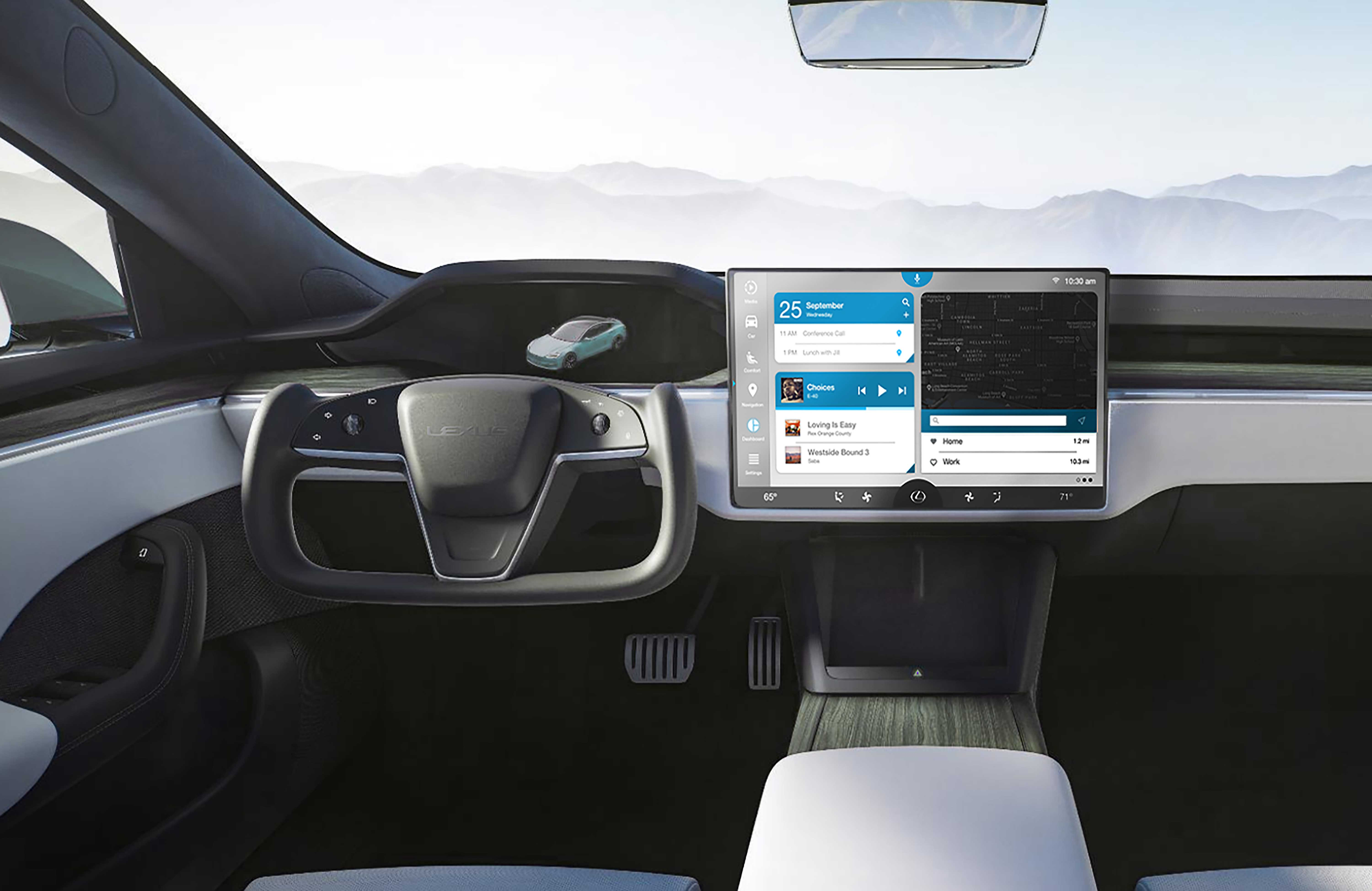Sample image for the Lexus self driving car concept