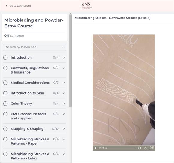 permanent makeup online training portal