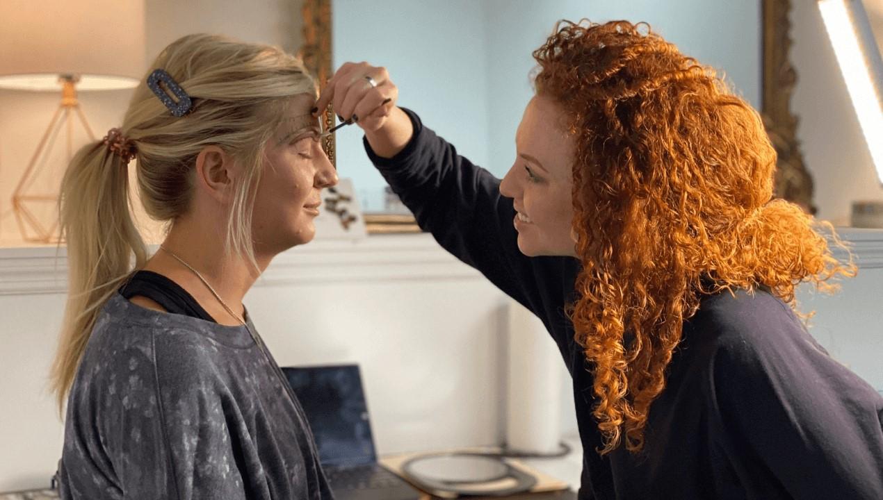 makeup artist teaching permanent makeup class