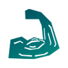 icon of arm with muscles