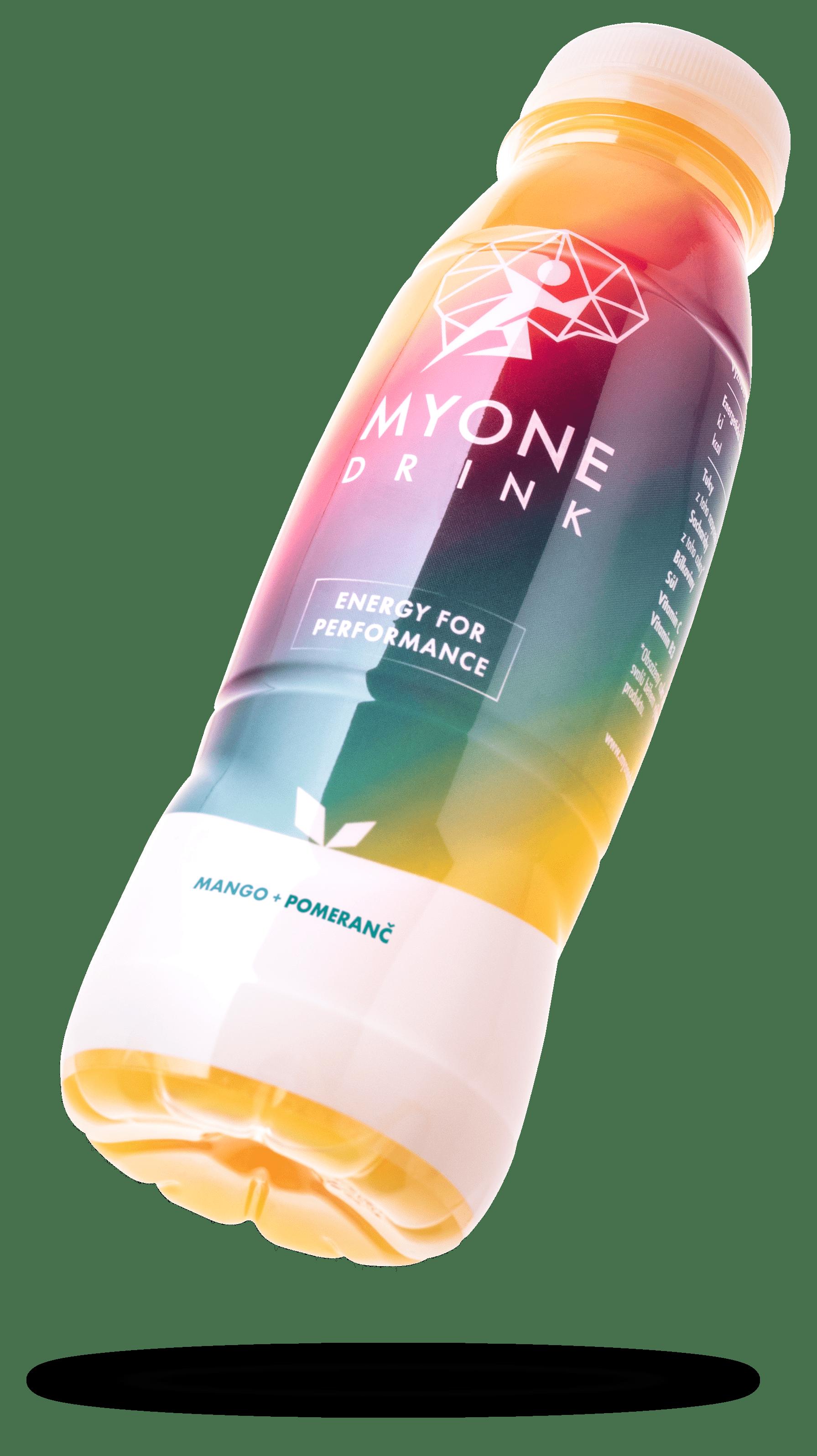A bottle of Myone drink